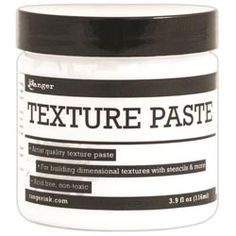 Ranger-Texture Paste. Artist quality texture paste is ideal for layering and creating three-dimensional surfaces   Ranger Ink