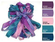 Sari silk colors - beautiful