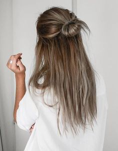 6 Hairstyles for Long Hair - Hair and Beauty ✂ 5 Minute Hairstyles, Hairstyles 2016, Lazy Day Hairstyles, Latest Hairstyles, Heatless Hairstyles, Second Day Hairstyles, Long Brunette Hairstyles, Greasy Hair Hairstyles, Messy Bun Hairstyles