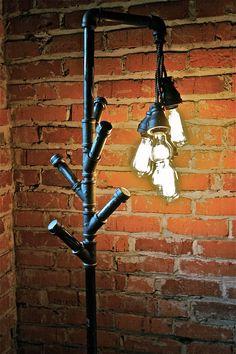 Industrial Floor Lamp Coat Rack. $289.00, via Etsy.