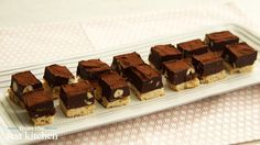 Chocolate-Hazelnut Shortbread Squares - From the Test Kitchen