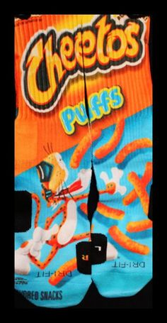 Cheetos Parody Custom Nike Elite Socks by LuxuryElites on Etsy, $35.99
