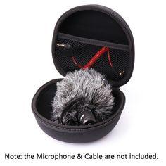 AriMic Hard Protecting Case for RODE VideoMicro Microphone ,AriMic EVA Hard Travel Case Carrying Bag for RODE VideoMic Me