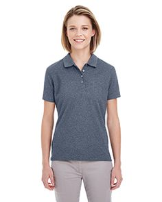UltraClub UC100W - Ladies' Heathered Pique Polo #womenspolo #corporateproducts #sportsshirt
