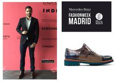 Fran Murcia guapísimo en #MBFWM16 con zapatos de Angel Infantes