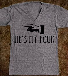 These are adorable He's My FOUR Shirt from Divergent Trilogy by CaffeinatedCreators, $28.50