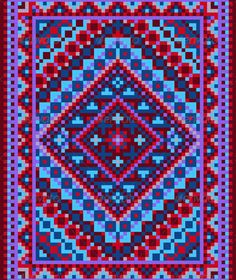 """Vivid Carpet Old Style in Blue and Purple Shades #GraphicRiver Design for variegated carpet with violet blue shades and decorative details for the frame. Vector Illustration.EPS-10. Main files and """"fully editable"""": Ai; EPS; PDF formats (with minimum Adobe version CS). Additional format: TIFF; PNG; JPEG. Smart Object of the key.80-80, 590-700 80-80, 590-700 of the total cropped file 900-900 Fully finished sketch, for the carpet, embroidery. You can use the parts to create new compositions Use…"""