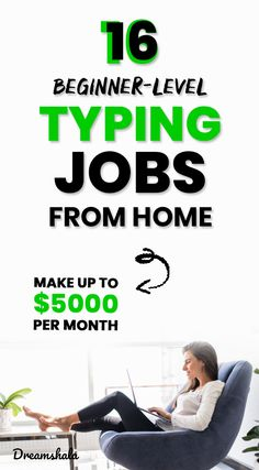 16 beginner-level typing jobs from home. #typingjobs #dataentryjobs Make Money Now, Make Money From Home, Big Money, Extra Money, Online Work From Home, Work From Home Tips, Captioning Jobs, Typing Jobs From Home, Data Entry Projects