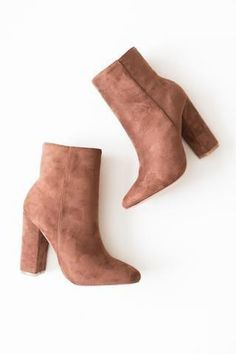 High Ankle Booties, suede, brown, camel, fashion, style, inspo #shoesheelsboots