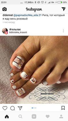 Really pretty toenail art design idea! #nails #unas #nailart
