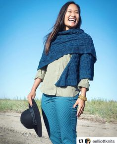 The crazy-talented @eelliottknits is releasing this wrap I shot for her any day…