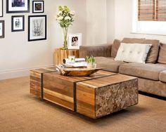table en teck, table basse de salon en bois