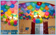 Part of Michelle's Birthday Surprise!!! Filling up the room with balloons is next!!!
