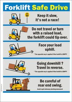 Forklift Safe Drive poster