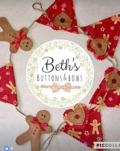 Beth's Buttons & Bows bunting