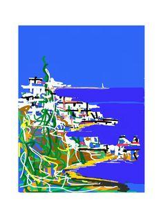 'Costa Brava', una obra de Colin Bertholet que se incluye en su colección 'Índigo' y se puede adquirir en la tienda online http://colingarabatosdigitales.com/ #DigitalArt #iPad #GarabatosDigitales
