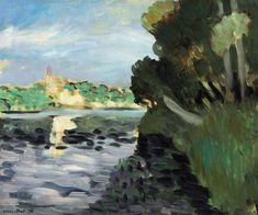 Henri Matisse (1869-1954) Bords de la Seine à Vétheuil (1920) oil on canvas 38.5 x 46 cm