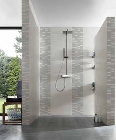Mosaikfliesen Meissen Cement hellgrau-grau-Mix 30x30cm