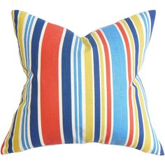Manila Stripe Cotton Throw Pillow