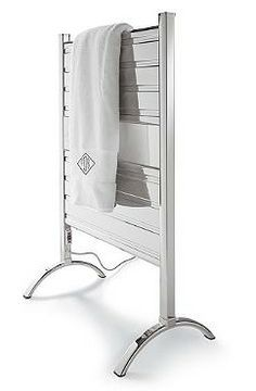 Outperforming ladder or zigzag-style tubing that heats and dries unevenly, our Heated Towel Warmer boasts flat aluminum panels that allow for more surface contact and better heat distribution. Lavish dad with this great Father's Day present.