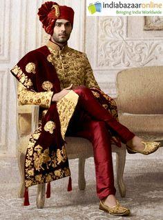 Wedding Dresses Men Indian, Groom Wedding Dress, Pakistani Wedding Outfits, Groom Dress, Wedding Suits, Punjabi Wedding, Indian Weddings, Wedding Couples, Wedding Ideas