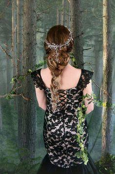 Flores corona pedazo del pelo de la boda por ForestsOfWildflowers