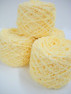Fire up your needles!  4 balls Vintage Cotton Yarn in a beautiful yellow, from StitchKnit, $9.00