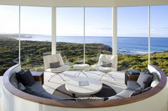 I actually sat in that chair on the right and looked at the world. that chair, right there. Southern Ocean Lodge, South Australia