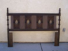 Vintage Headboard 1970's by sPRAYUPHOLY on Etsy, $50.00 Vintage Headboards, 1970s, Shelves, Storage, Unique Jewelry, Handmade Gifts, Furniture, Etsy, Home Decor