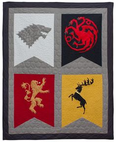 This free quilting pattern takes pop culture quilt patterns to the next level. Fans of the television show will absolutely go wild for the Epic Game of Thrones Quilt.