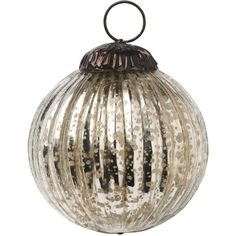 Toast Round Bauble (13 CAD) ❤ liked on Polyvore featuring home, home decor, holiday decorations, christmas, holidays, tarnished silver, christmas ornaments, holiday home decor, xmas ornaments and round christmas ornaments