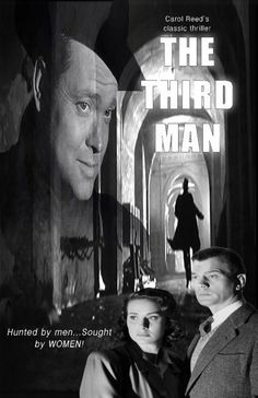 1949_THE THIRD MAN_Joseph Cotton, Alida Valli, Trevor Howard & Orson Welles...Directed by Carol Reed with INCREDIBLE...Shadows, Shadows, Shadows in post war Vienna!