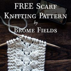 Here's a FREE scarf knitting pattern! I fell in love with the baby fern stitch, so here's an easy scarf knitting pattern using that stitch! Baby Knitting Patterns, Knitting Stitches, Crochet Patterns, Scarf Patterns, Yarn Projects, Knitting Projects, Knitting Tutorials, Easy Knitting, Start Knitting