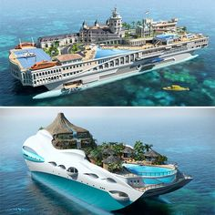 island yachts… not yachts to go to islands…but yachts that ARE islands!