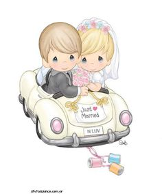 Dibujos. Clipart. Digi stamp - Wedding - Precious Moments