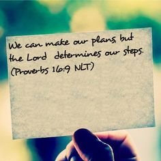 Love this!!! Let Go and Let GOD!!! Hearing from GOD every morning reading plan day 9/14 Bible Verse: Proverbs 16:9