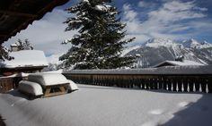 Chalet Maisonnée A - Private sun terrace with uninterrupted views of the mountains and Trois Vallée ski area Courchevel 1850, Ski Chalet, Open Plan Living, Mountain View, Perfect Place, Balcony, Terrace, Skiing, Relax