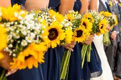 Long-Stemmed Sunflower Bridal Bouquets