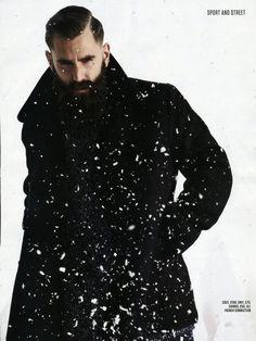 Medium_portrait Bearded Tattooed Men, Bearded Men, Ricki Hall, Great Beards, Beard Tattoo, Model Agency, Winter Style, Sport, Portrait