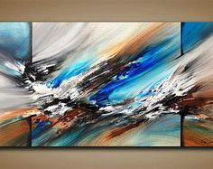 Abstract painting / Wall art / Contemporary abstract / Modern art / Youtube painting / Ray Grimes / 12x24