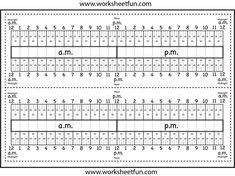 timeline ruler worksheet-fun: elapsed time!