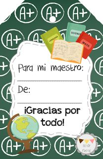 So Hip Fiestas: Descargable gratis - Etiquetas para regalo, Día del Maestro
