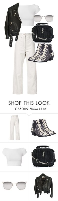 """""""Untitled #22299"""" by florencia95 ❤ liked on Polyvore featuring Lemaire, Zimmermann, Helmut Lang, Yves Saint Laurent, Linda Farrow and Acne Studios"""