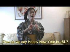 Lesson1 How to say HAPPY NEW YEAR / Japanese Sign Language tutorial 日本の手話