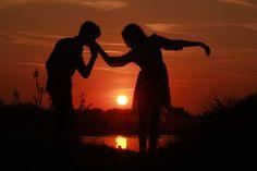 Casal, Amor, Pôr Do Sol, Água, Sol, Sombra, Romance