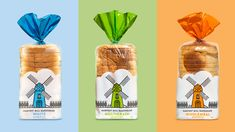 Harvest Mill Bakehouse - Bread packaging. Sometimes the simple things in life are the best. Do you not agree? A simple brand, simply made and simply priced.