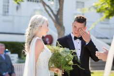 """""""There is no greater feeling than when a groom turns to see his bride and has tears in his eyes because she is so beautiful.""""  Tim Allen  📷 : @linda.vos  #BonaBride #WomensMonth #BonaDeaPrivateEstate Perfect Wedding, Dream Wedding, Womens Month, Tim Allen, Wedding Venues, Awards, Groom, Weddings, Bride"""