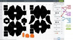 Cutting the pieces of the penguin paper bomb in Cricut Design Space