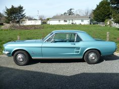 1967 Mustang. I will have this car. In this color. With white leather interior.