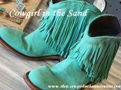 Liberty Black Short Fringe Turquoise Boot                                                                                                                                                                                 More